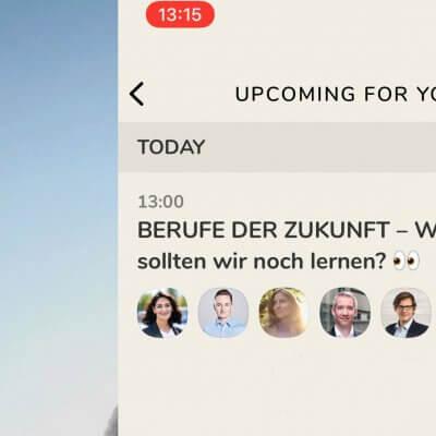 Screenshot von Clubhouse App