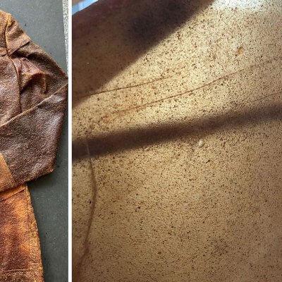 Mantel aus Orangenschalenabfällen