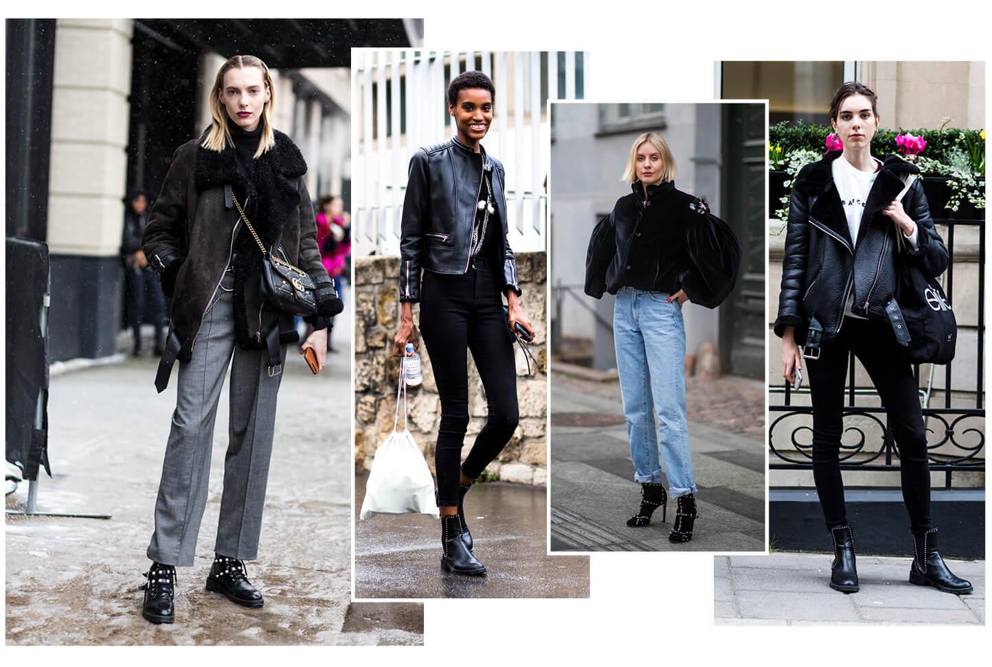 Schuhe mit Nieten Streetstyle Shoe Fashion