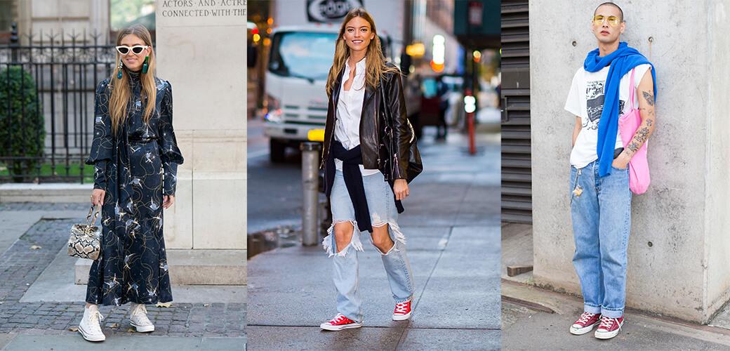 Sneaker-Trend Streetstyle Sneaker, Emili Sindlev, Martha Hunt, Luca Kiripun