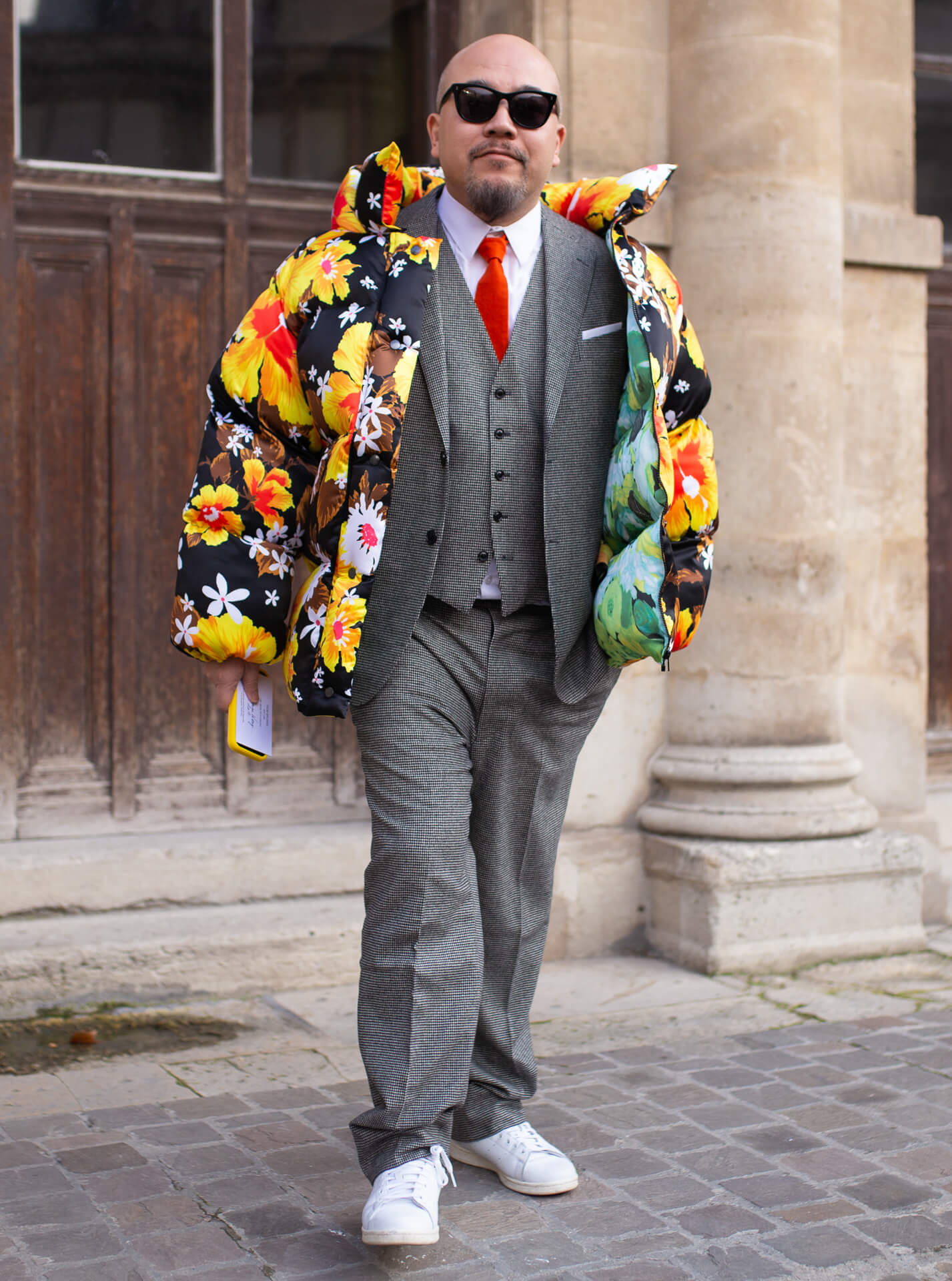 Steppjacke Männer Streetstyle Shoe Fashion