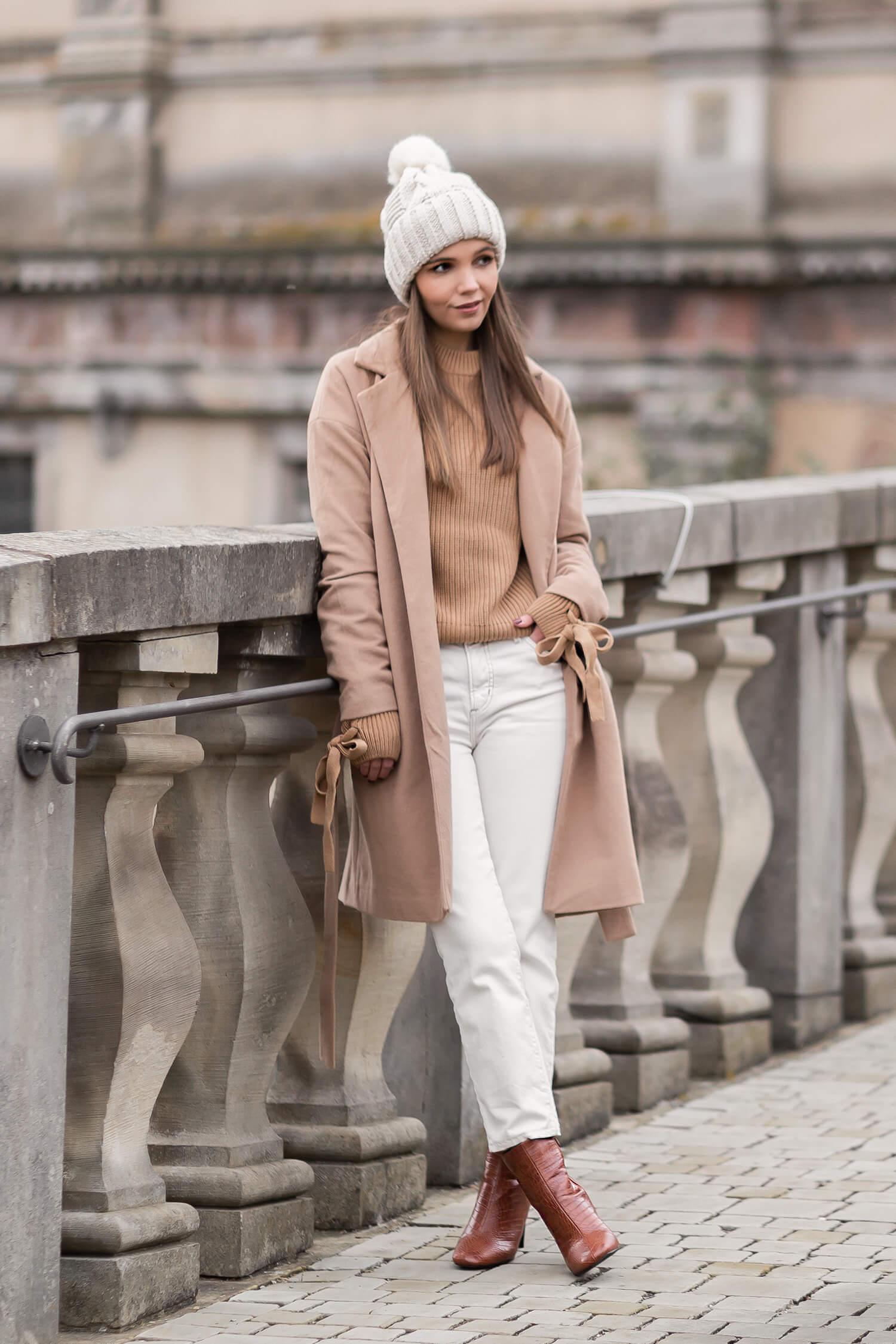 Camel Pullover im Herbst stylen, Herbst Trendfarbe Braun, Shoelove by Deichmann