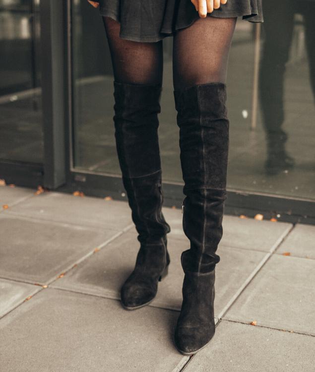 Overknee Boots Alltag