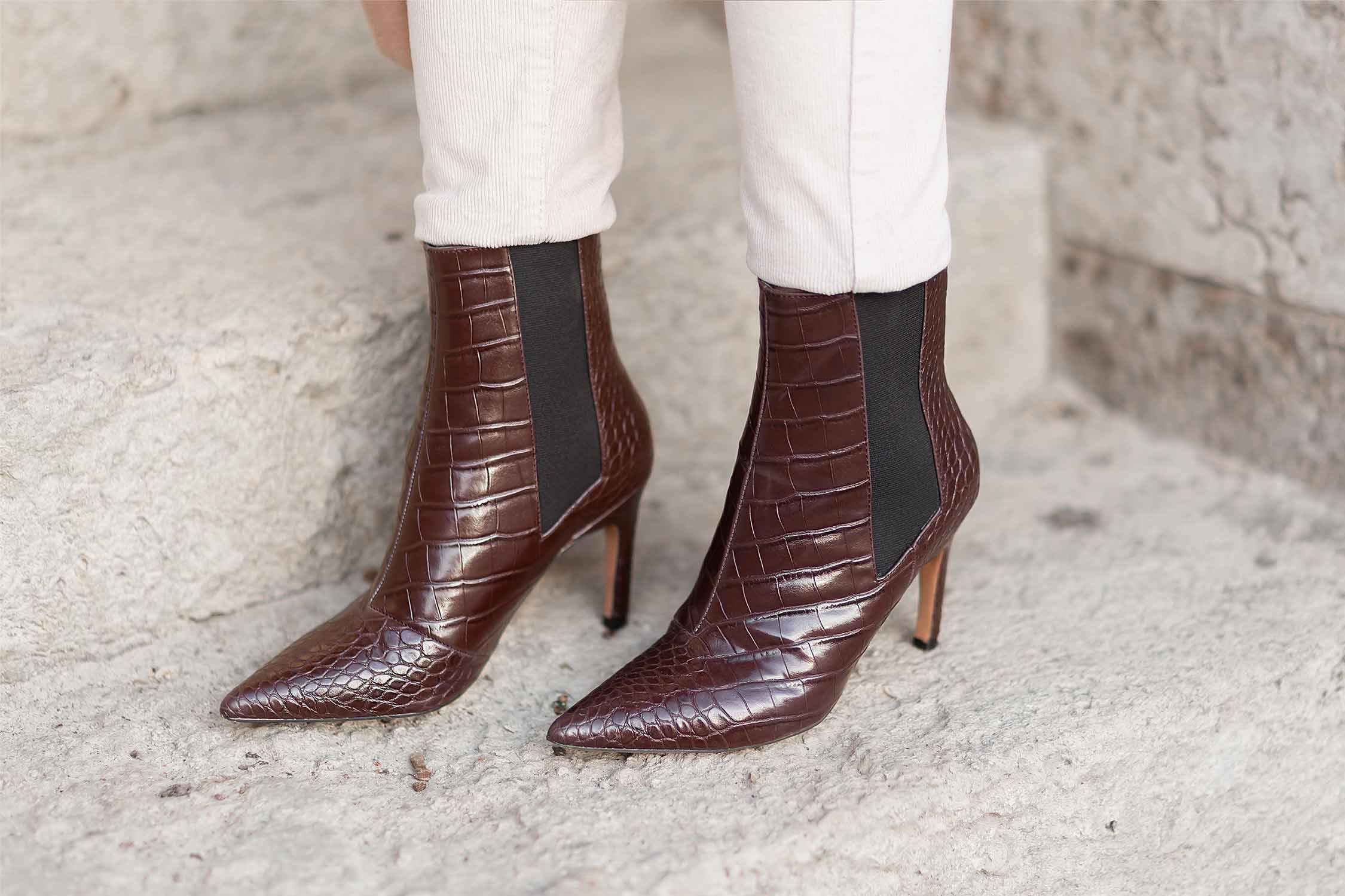 Trendschuhe für den Winter 2020, Boots im Animal-Look, Stiefeletten mit Kroko-Muster, Shoelove by Deichmann