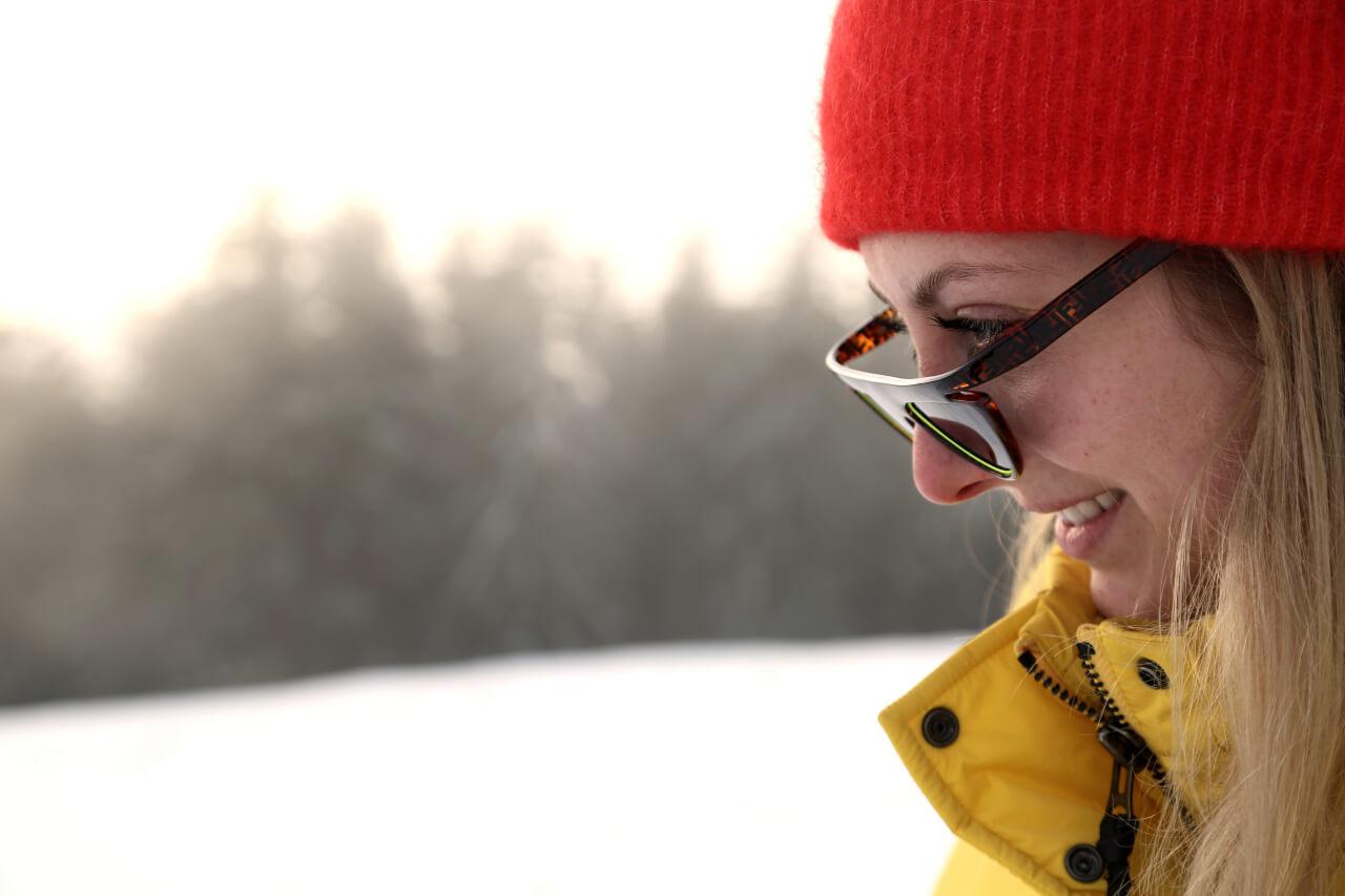 Apres-Ski Outfit Sonnenbrille Detail
