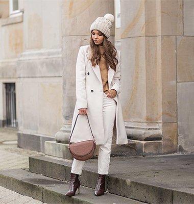 Mäntel in Off-White stylen, Wintertrend, weiße Mäntel Outfit, Shoelove by Deichmann