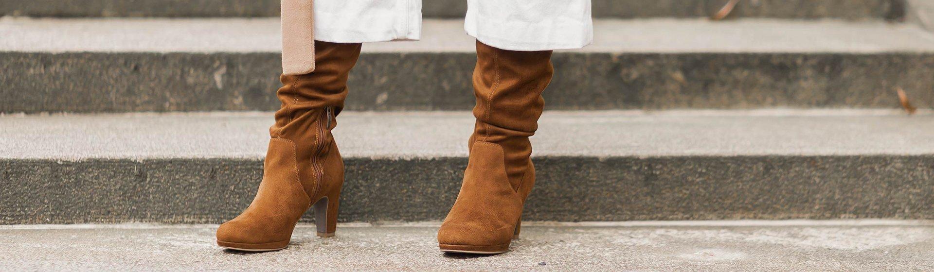 Stiefel in Karamell stylen, Schuhtrend, braune Stiefel, Trendfarbe Braun, Shoelove by Deichmann