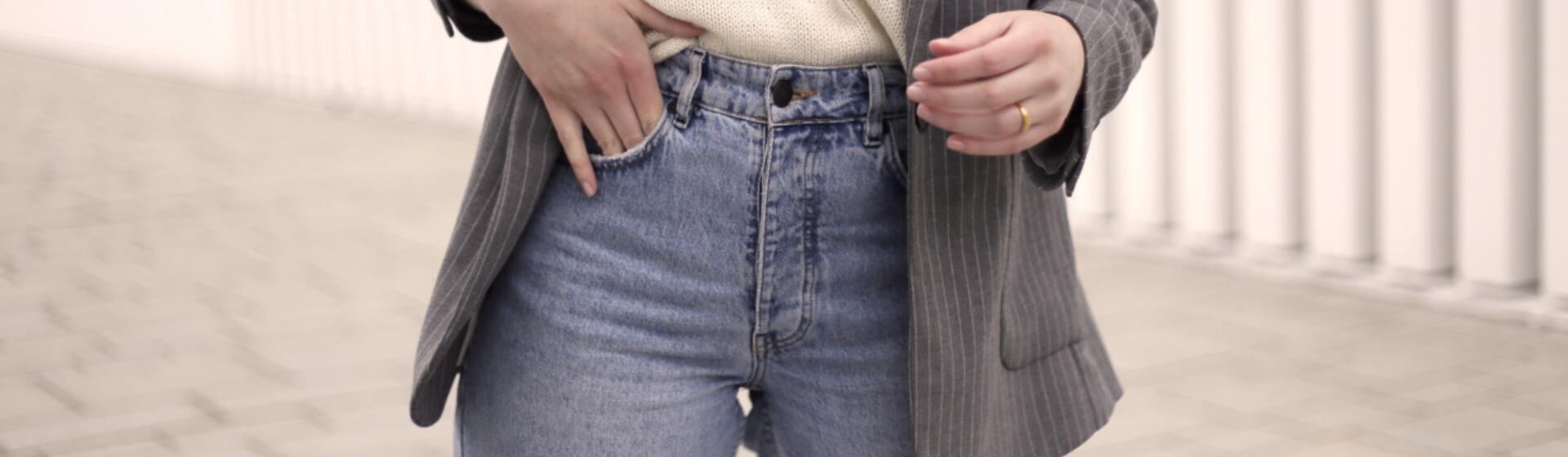 Mom-Jeans Kombi mit Blazer