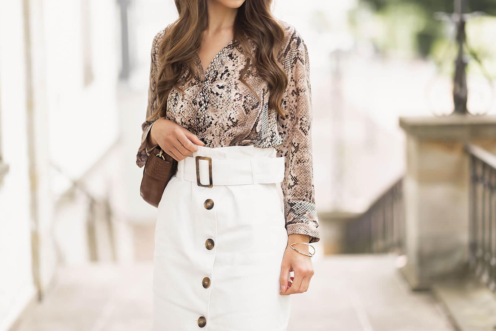 Weiße Jeansröcke stylen, Denim Trend Sommer 2020, White Denim, Jeans Midirock, Shoelove by Deichmann