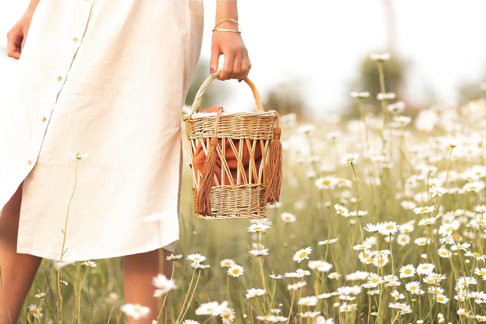 Trend Taschen für den Sommer, Taschen Trends 2020, Taschen aus Naturmaterialien, Korbtaschen, Shoelove by Deichmann