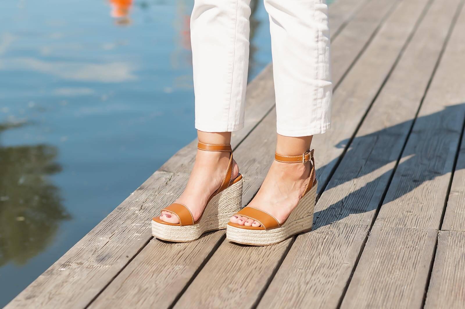 Sandalen Trends 2020, Sandalen mit Keilabsatz, Keilsandaletten, Shoelove by Deichmann