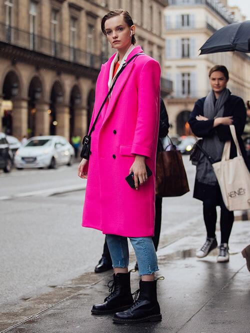 Combat Boots, Streetstyle Paris, Valeria Chenskaya