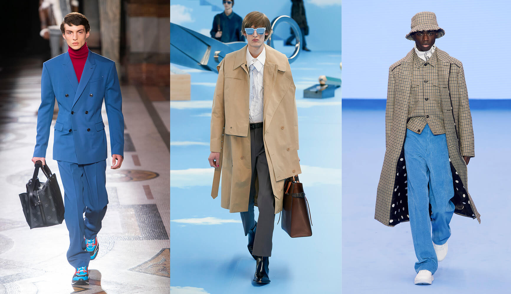 Büro Outfit, Runways von Berluti, Louis Vuitton, Paul Smith