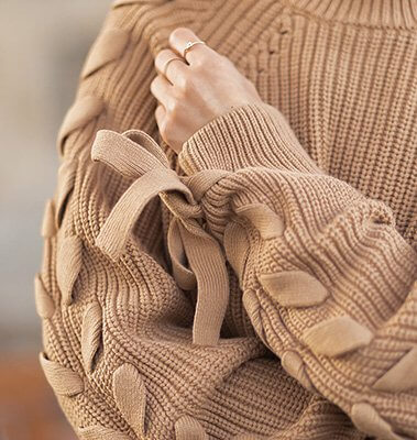 Statement Strick, Herbsttrend 2020, Strickpullover mit Details, Shoelove by Deichmann