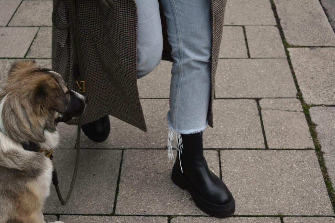 Chelsea Boots mit hohem Schaft und dicker Sohle Deichmann zu Maximäntel