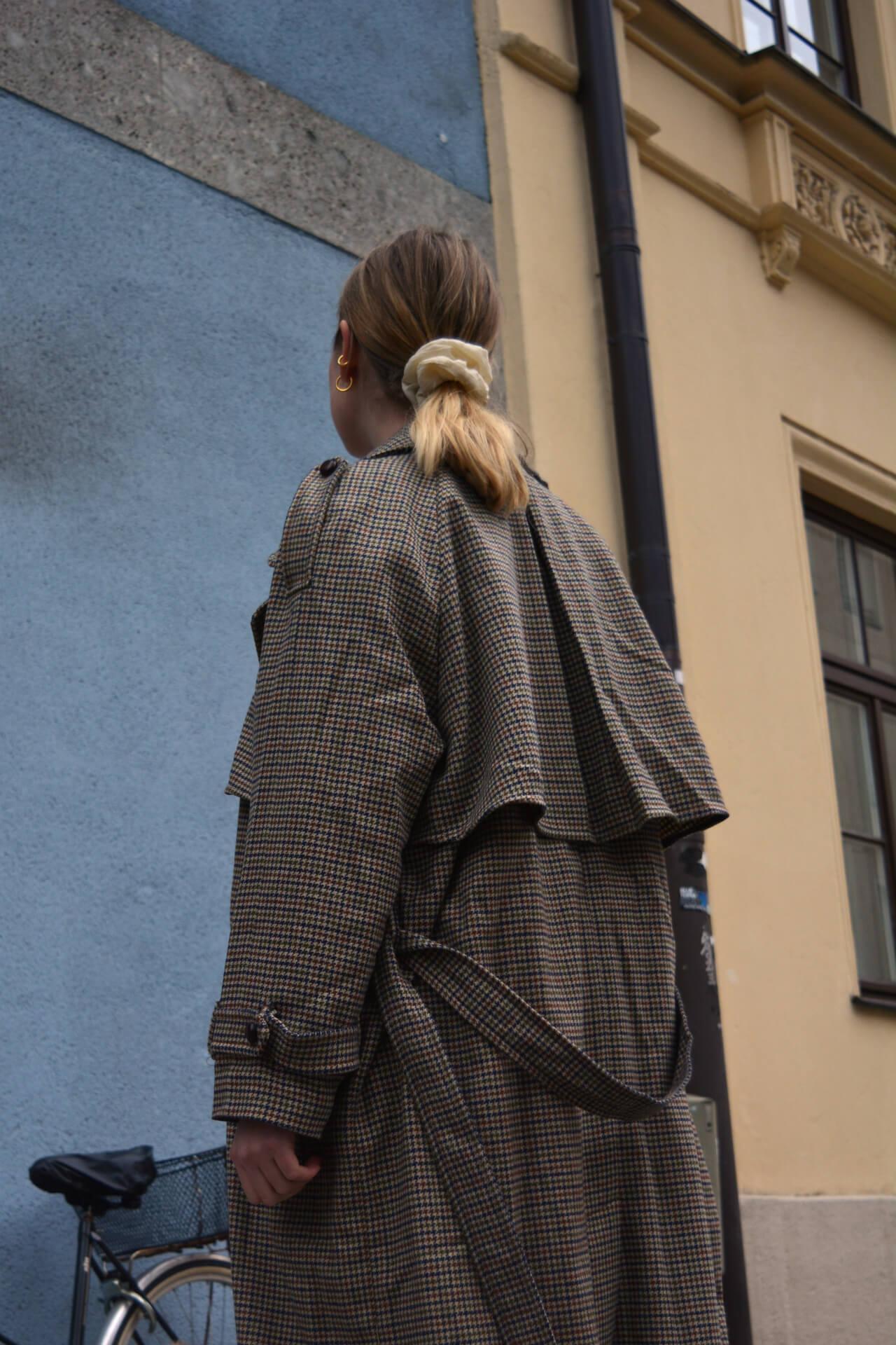 Wollmäntel mit Muster zur Jeans