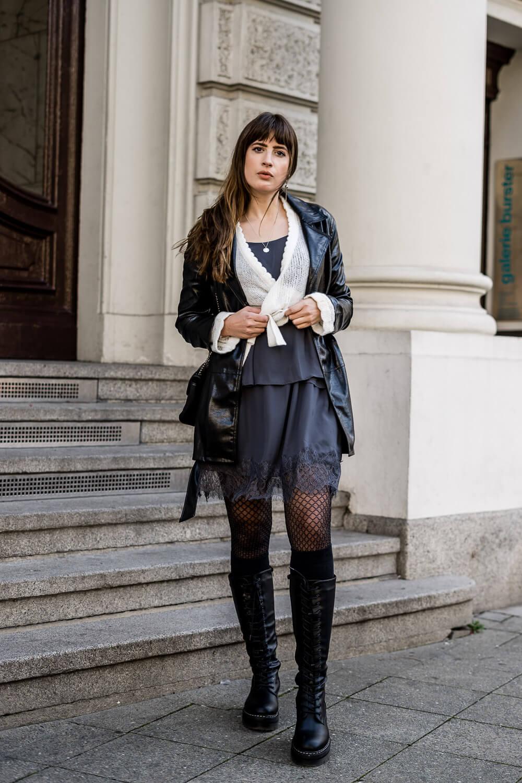 Kleid mit Pullover kombinieren
