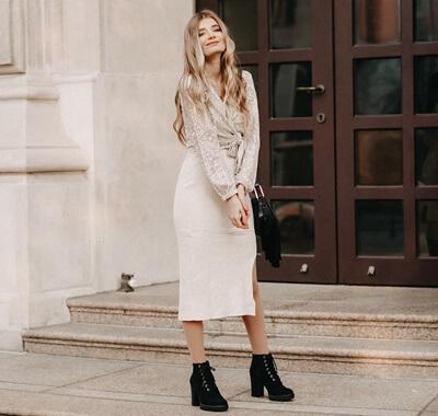 Silvester Outfit mit Pailletten Bluse