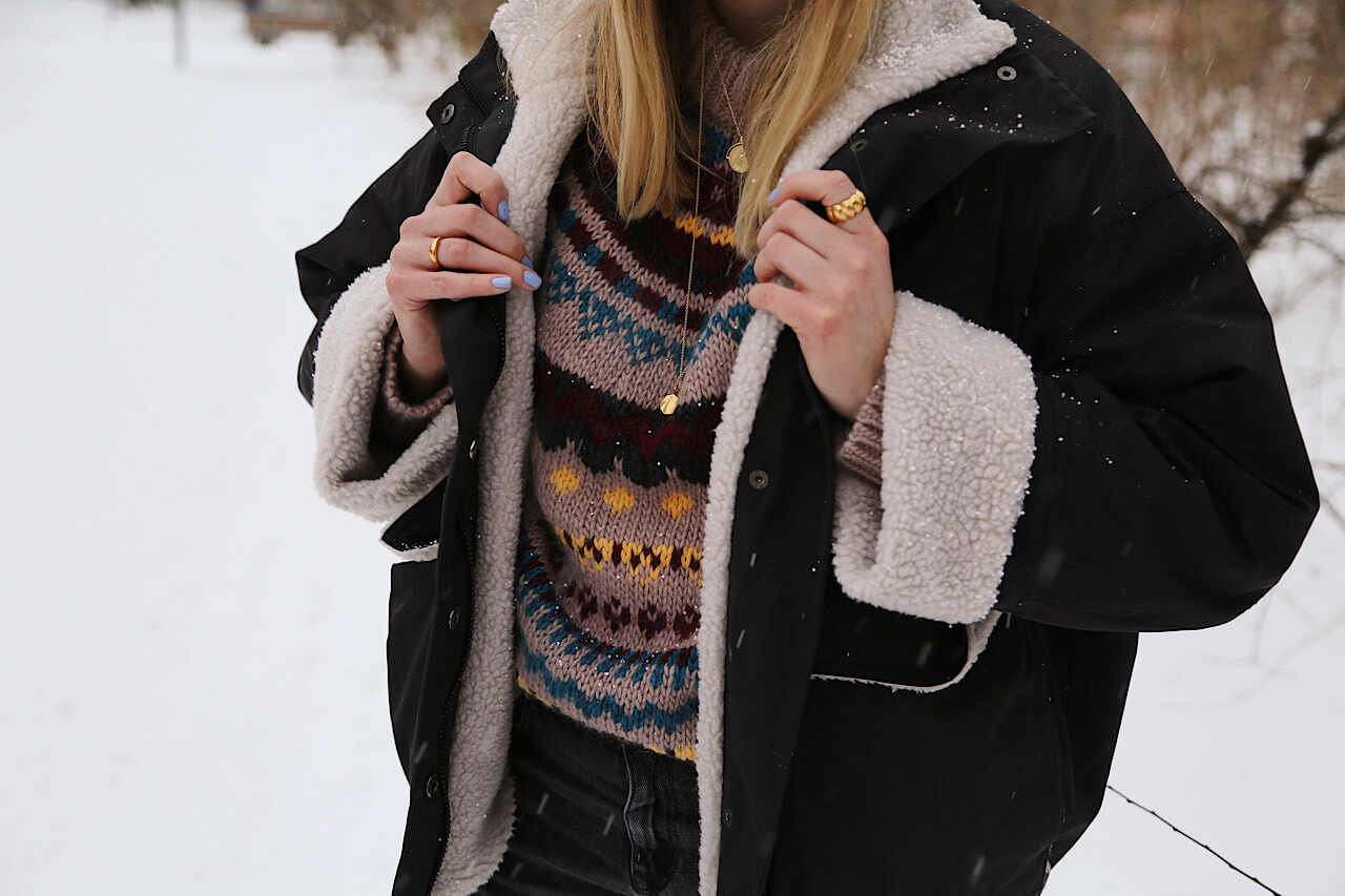 Wie style ich einen Norweger Pullover?