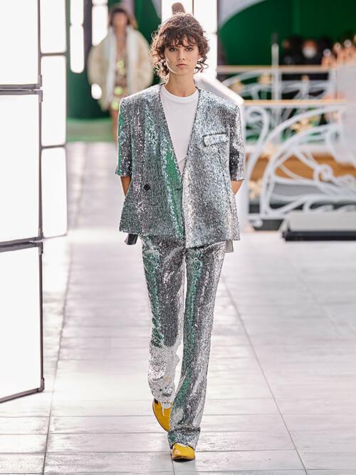 Glitzer Outfit, Runway Louis Vuitton