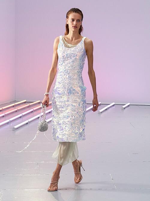Glitzer Outfit, Runway Acne Studios