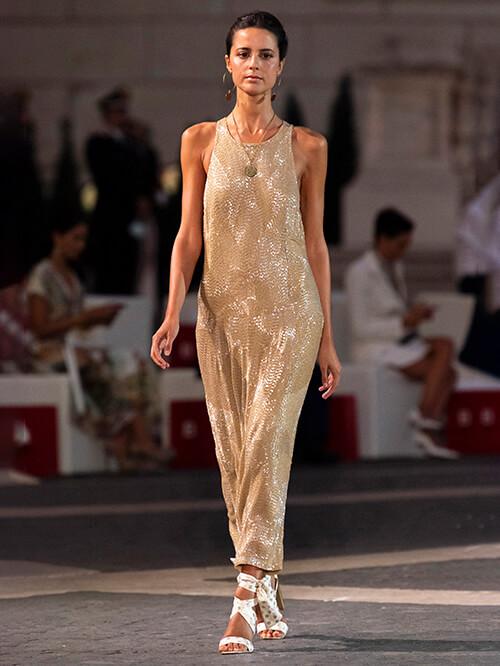 Glitzer Outfit, Runway Laura Biagiotti
