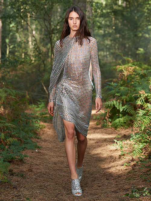 Glitzer Outfit, Runway Burberry