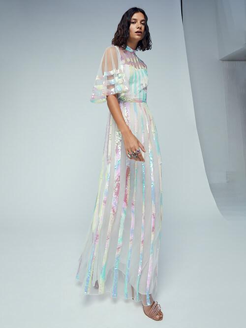 Glitzer Outfit, PR Temperley London