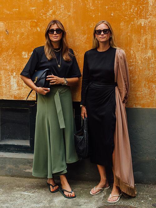 Streetstyle: zwei Frauen in Kopenhagen