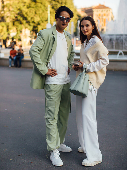 Streetstyle: Couple in Mailand