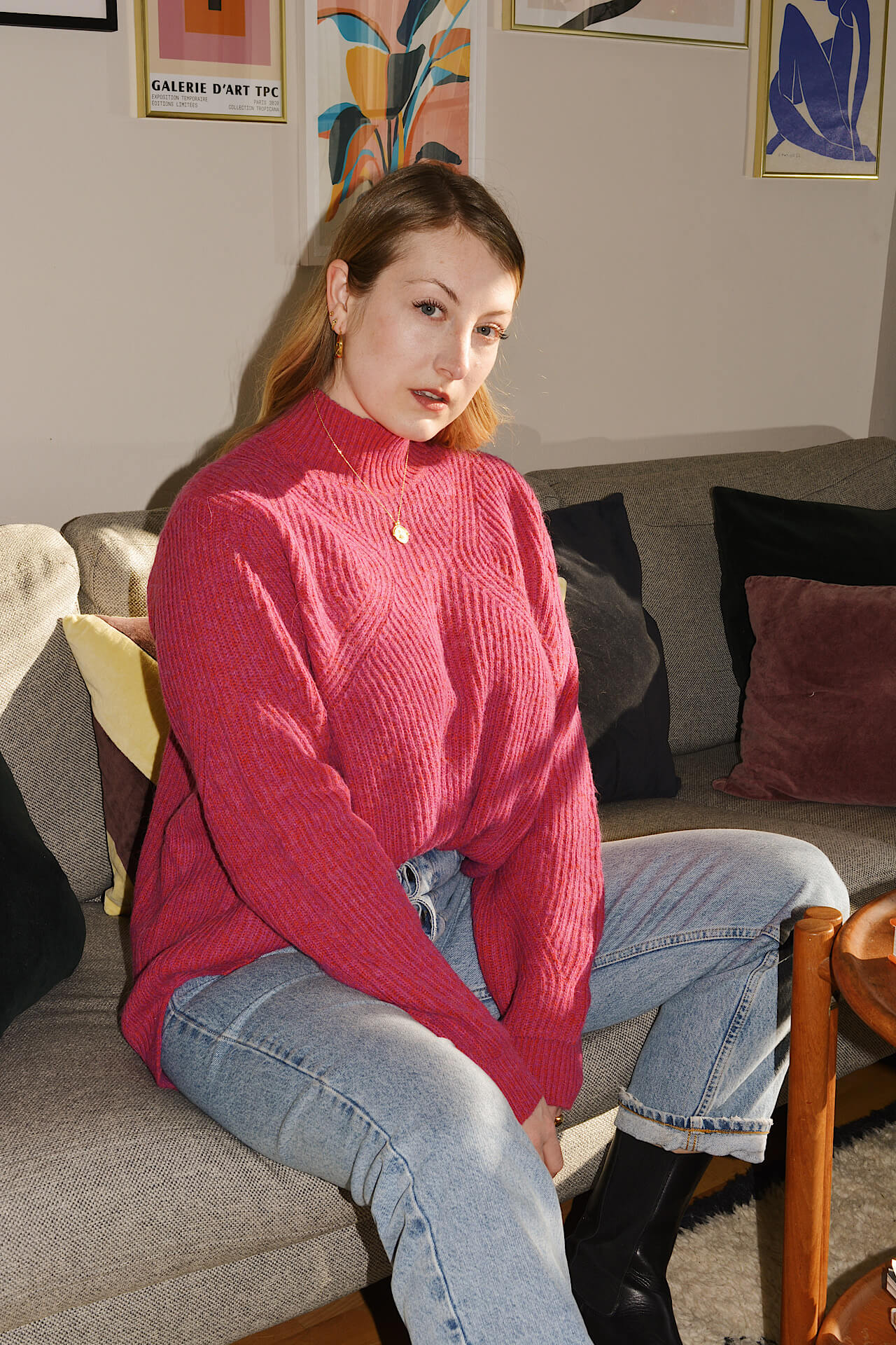 Sweater Weather Trends So kombiniere ich Stehkragen Pullover richtig