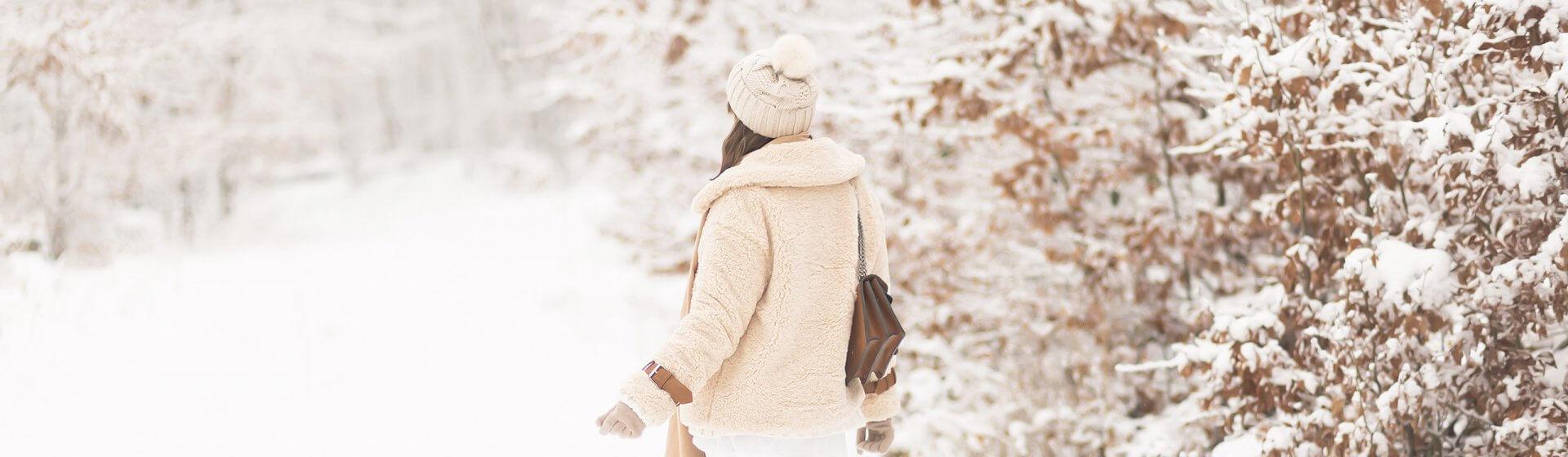 Cocooning Trend, gemütliches Winteroutfit mit Teddy Jacke, Shoelove by Deichmann
