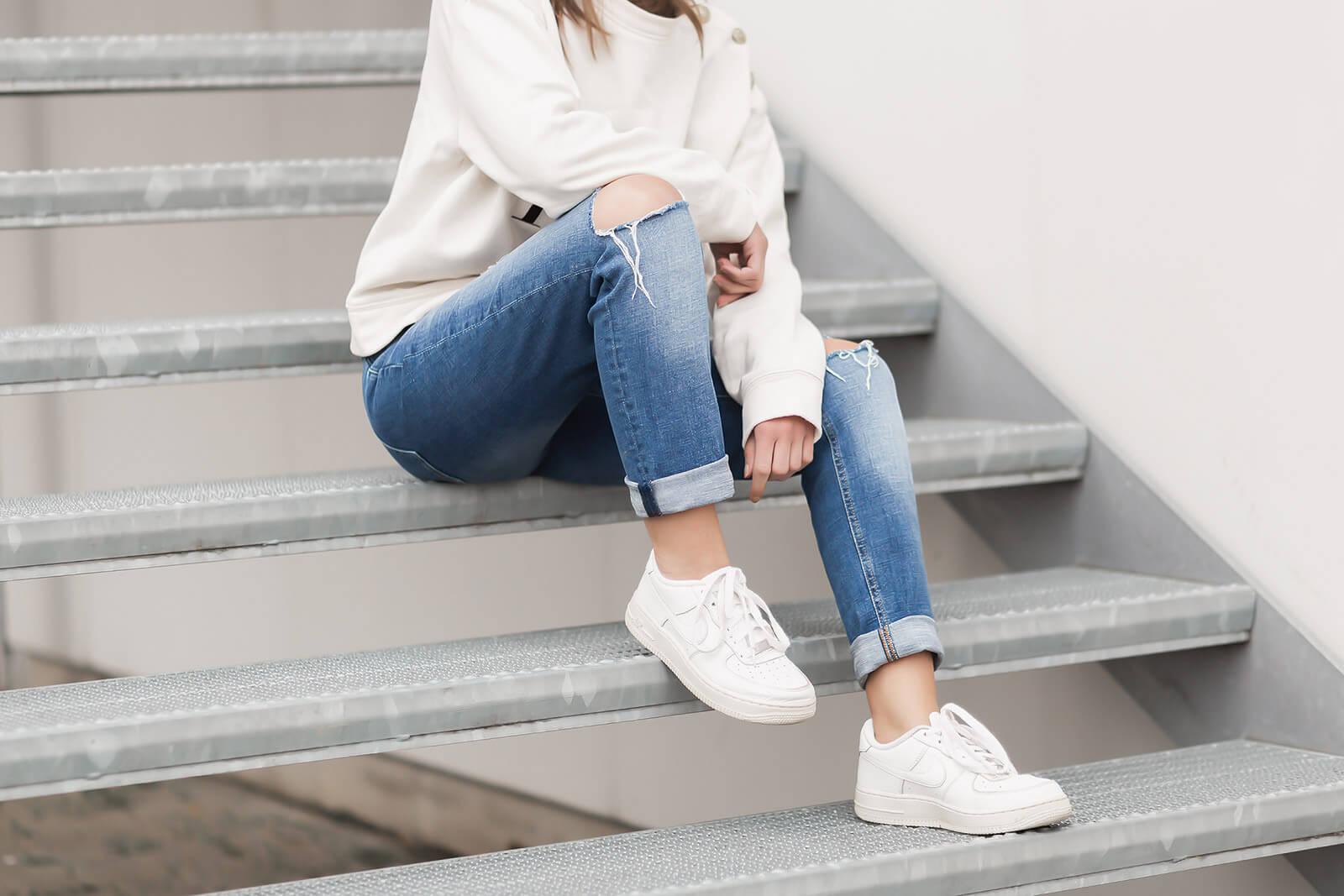 Jeans Trends 2021 - Destroyed Jeans kombinieren