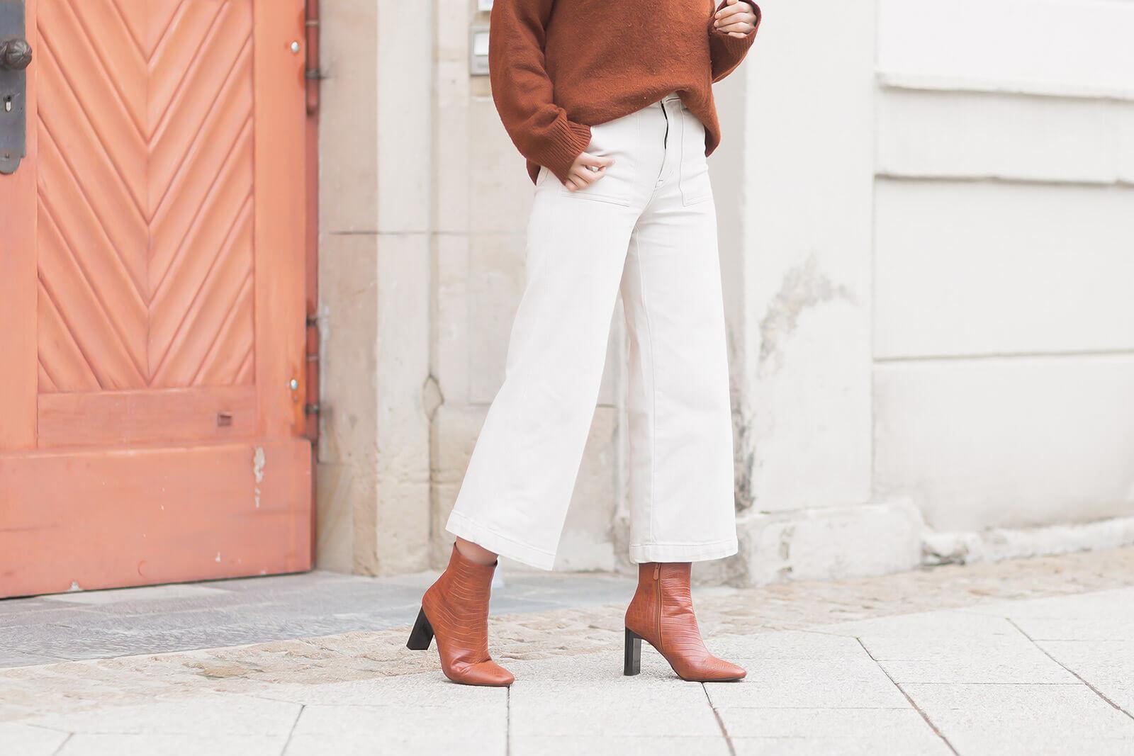 Jeans Trends 2021 - Wide Leg Jeans kombinieren