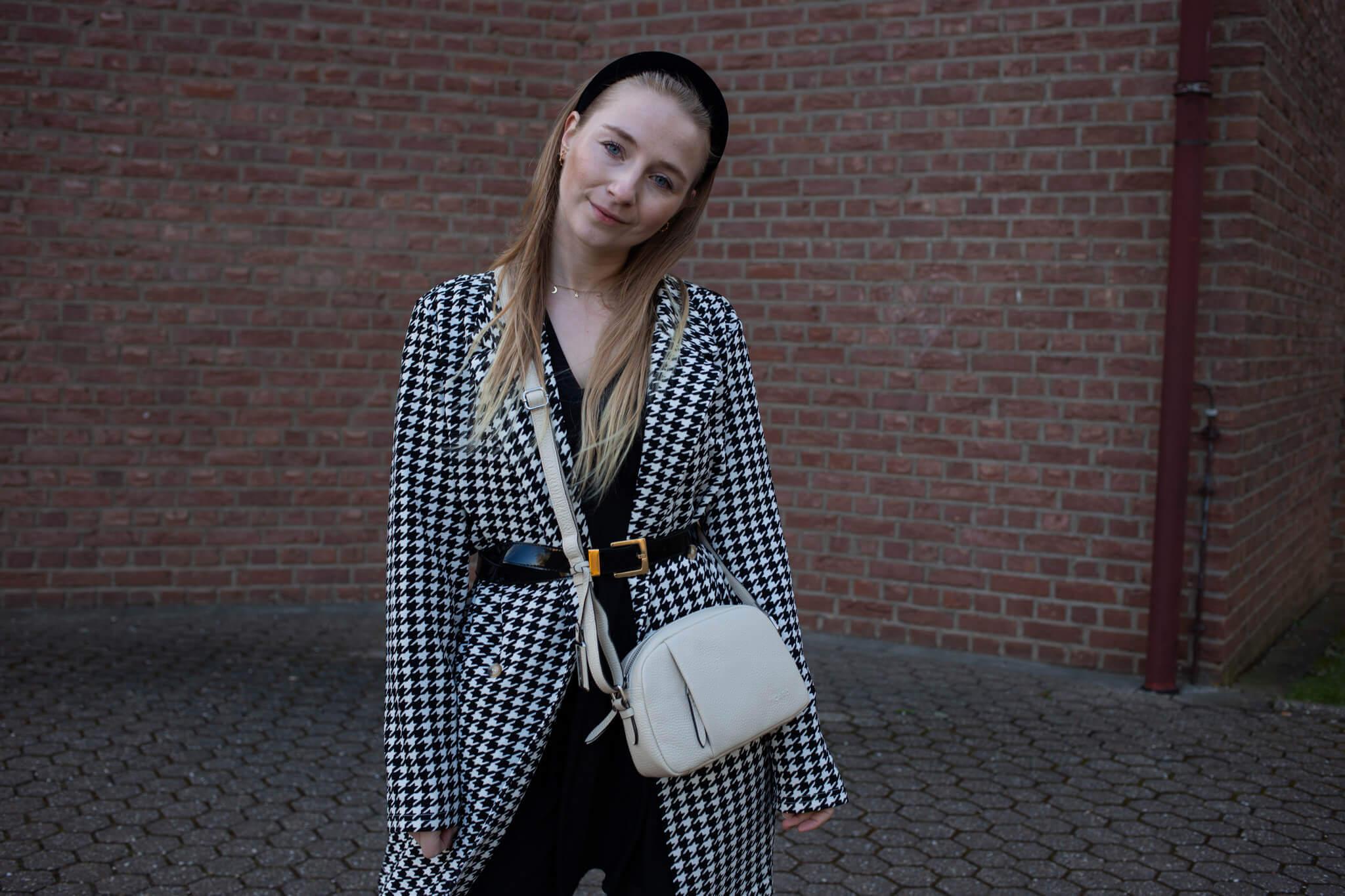 Aprilwetter Outfit Hahnentritt