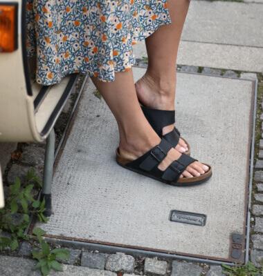 Pantoletten richtig kombinieren Shoelove Quadrat