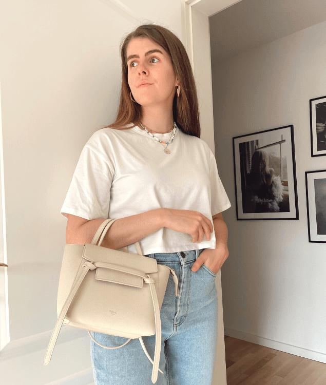 Sommeraccessoires Weiße Tasche