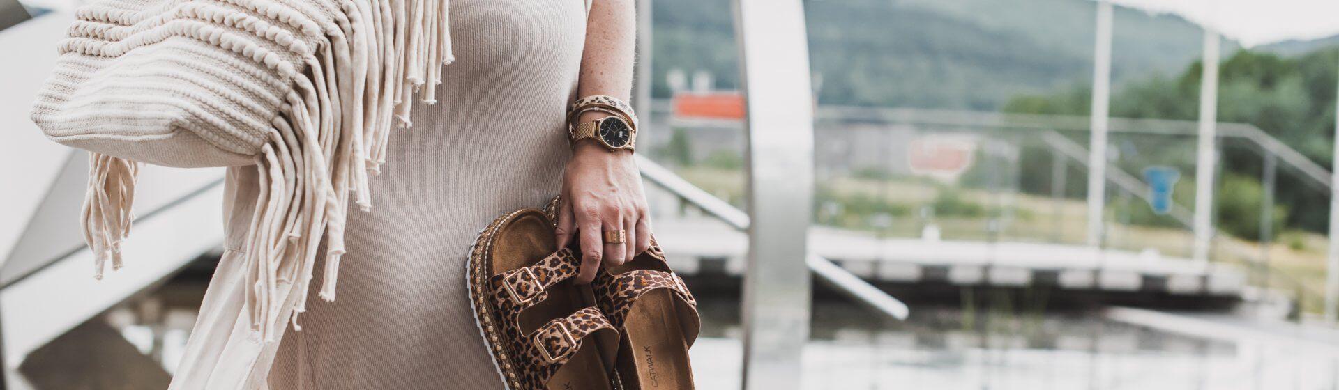 Bequeme Sommerschuh für die Schwangerschaft Shoelove Deichmann