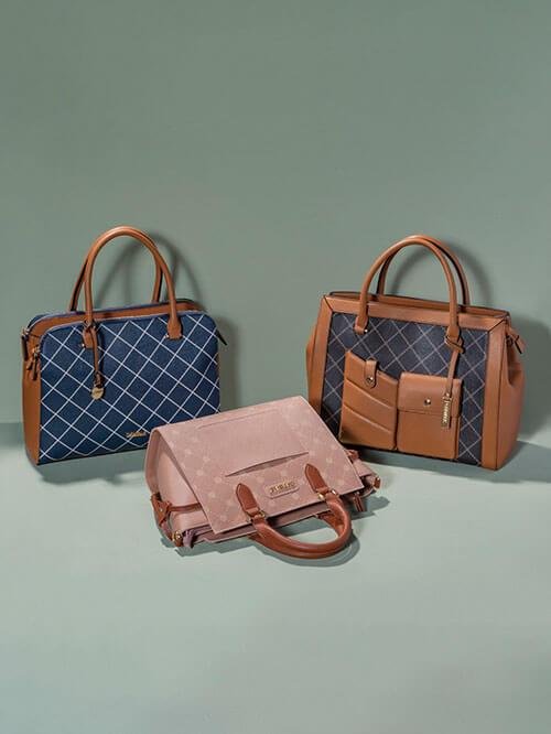 Neue Taschen mit elegantem Rauten-Muster
