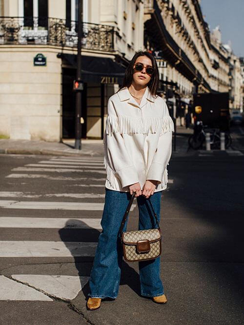 Cowboy Booties zu Jeans, Streetstyle aus Paris