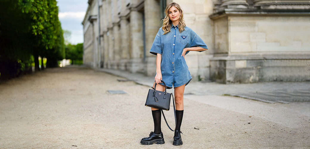 Loafer zu Jeans, Streetstyle Xenia Adonts