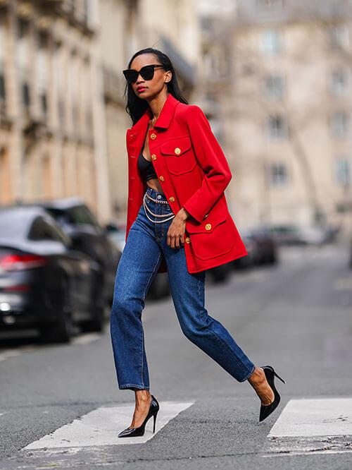 Jeans mit eleganten Pumps, Streetstyle von Emilie Joseph