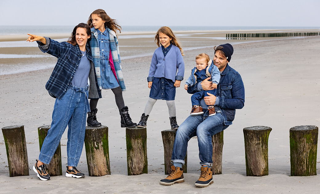 Familien Outfits: Jeans-Look