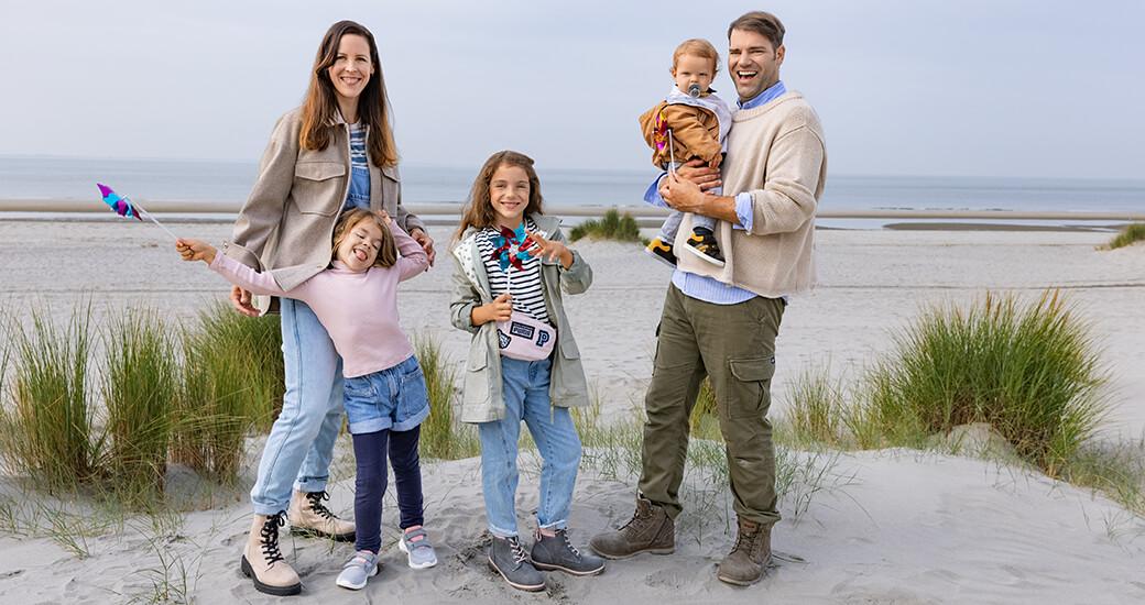 Maritimer Look für die Familie