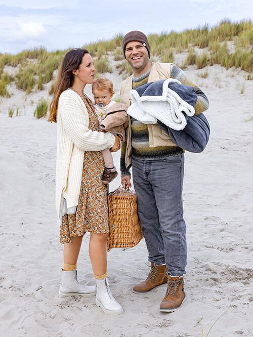 Natürliche Farben für das Familien-Outfit