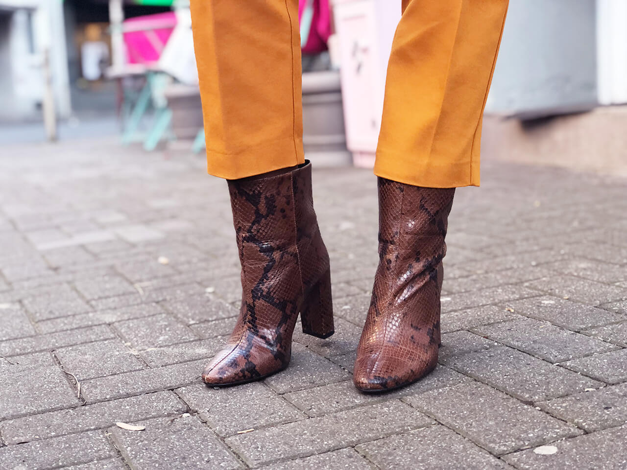 Boots mit Animalprint