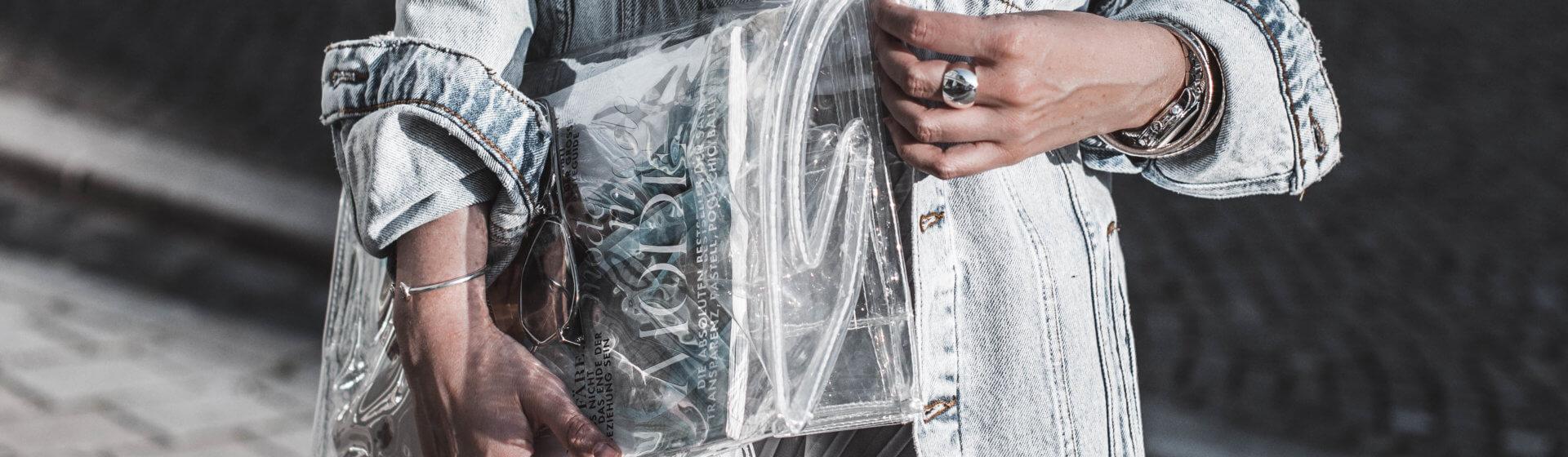 Klarer Trend : durchsichtige Taschen Shoelove Deichmann