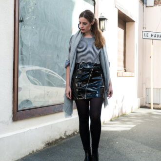 Street Style mit Vinyl-Modeblog-Fashionblogger Outfit