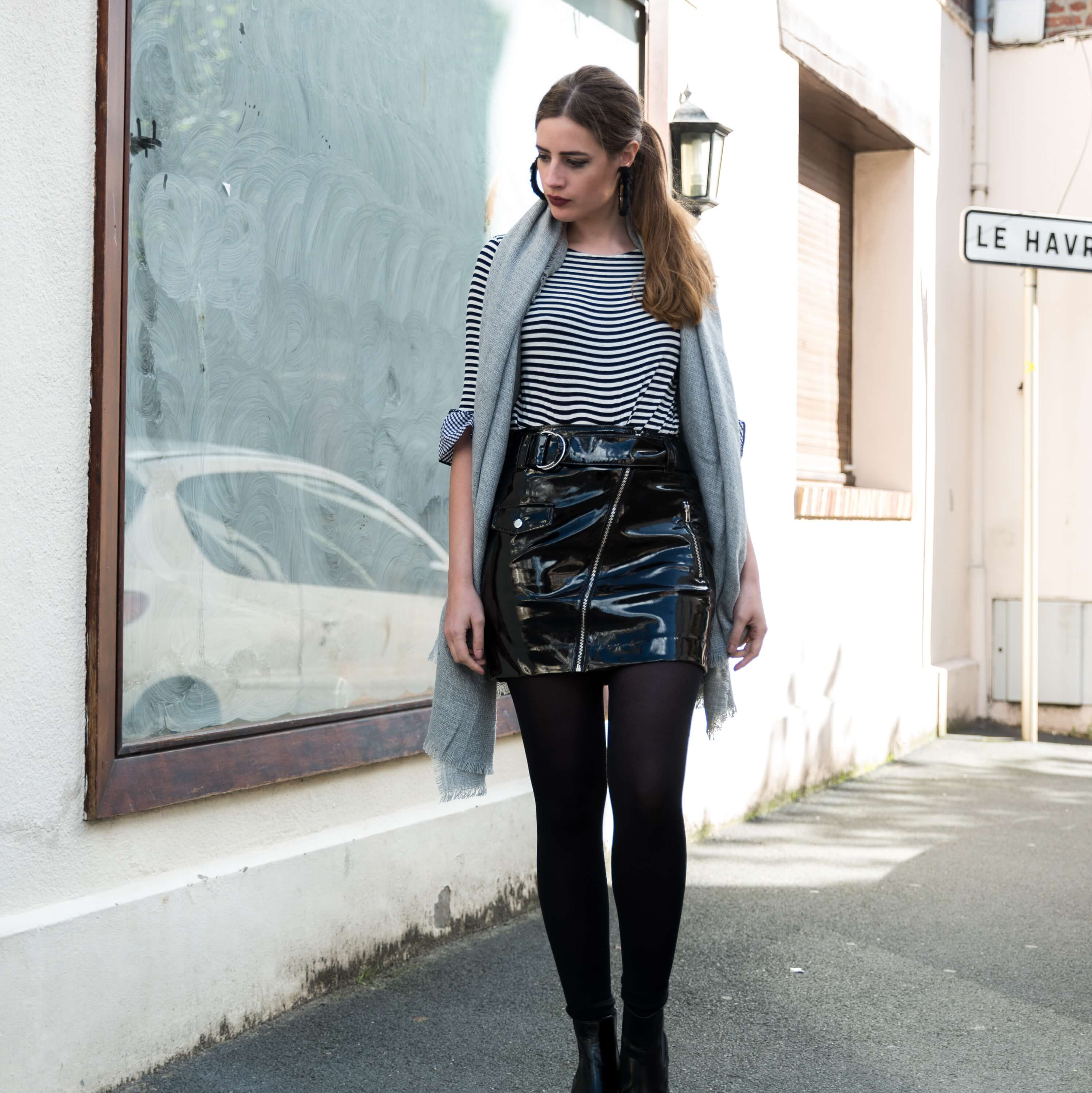Street Style mit Vinyl-Modeblog-Fashionblogger Outfit