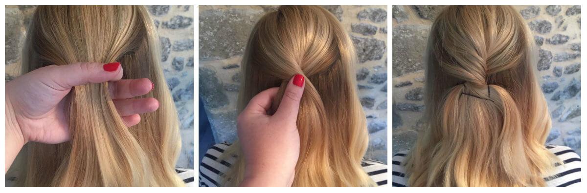 Hair Tutorial Half Braid 1